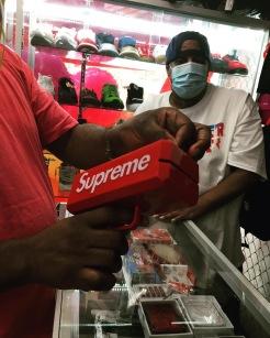 djgoodgrief supreme money gun sneaker summit